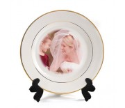 PLATE WITH GOLD RIM 7''